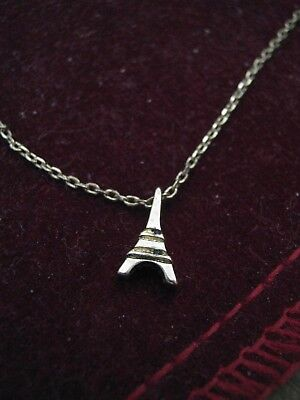 """16"""" Yellow Gold Plated Necklace Chain w/ 10mm EIFFEL TOWER PENDANT Elio? CMBYN?"""