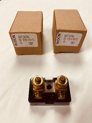 2pcs. Riedon 50a50mv Current Meter Shunt New In Box