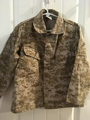 Kids USMC Uniform Costume Shirt Marine Corps Camouflague Trooper - Marine Corps Costume