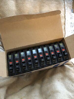 Box Of Ten 10 New Square D Qo115 15a 1p Plug-on Circuit Breaker 120240v