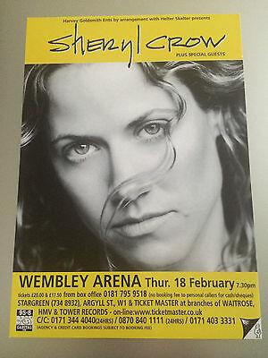 SHERYL CROW - 1 x 1999 WEMBLEY ARENA UK TOUR FLYER (SIZE A5)