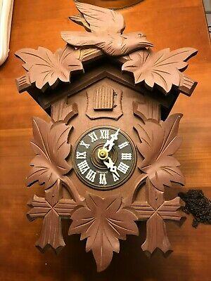 Vintage Carved German Wood Cuckoo Clock (for Parts or Repairs)