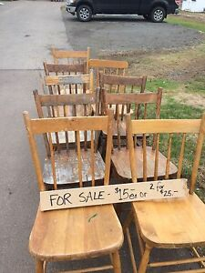 Antique Wood Chairs $15 each