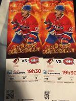 Billets Coyotes vs Canadiens 16 novembre