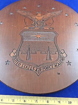 US Air Force Academy Engraved Wood Pecan Resin Plaque Handcrafted in US Red Mill