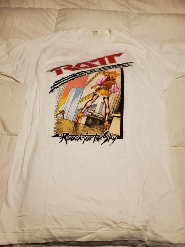 1989 VINTAGE RATT REACH FOR THE SKY CITY TO CITY CONCERT TSHIRT NEW SIZE XL