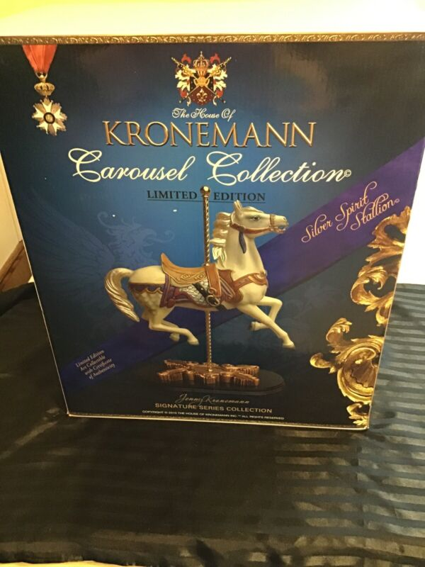 The House Of Kronemann  Carousel Horse Silver Spirit Stallion