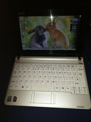 Upgraded white Acer Aspire One ZG5  a150 160GB HDD 1.5GB RAM, used item , usado segunda mano  Embacar hacia Mexico
