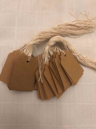 500 Kraft Blank Tags 1 13/16 x 1 3/16 inches thick cardstock paper