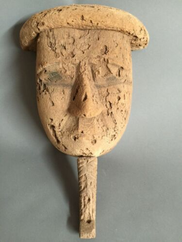 Large Ancient Egyptian Wood Sarcophagus Mask 600-500 BC