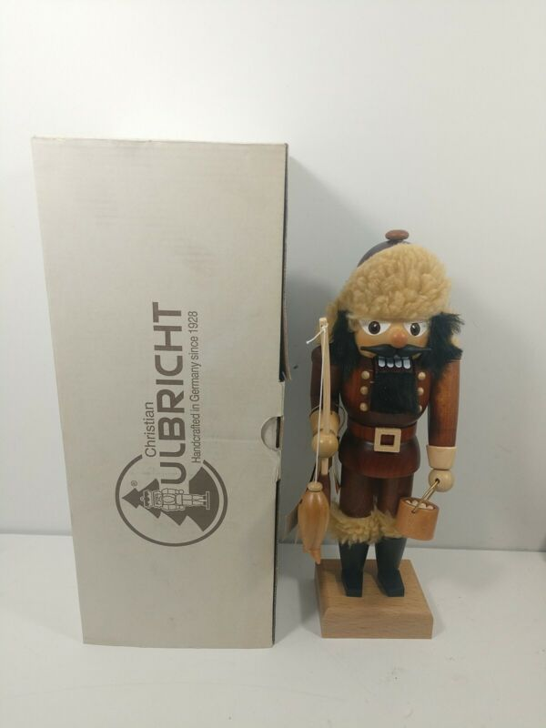 Christian Ulbricht Fisherman Nutcracker  Germany Exclusive Crate & Barrell 10.5""