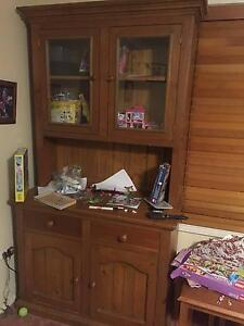 Wooden Display shelves and cupboard Winston Hills Parramatta Area Preview