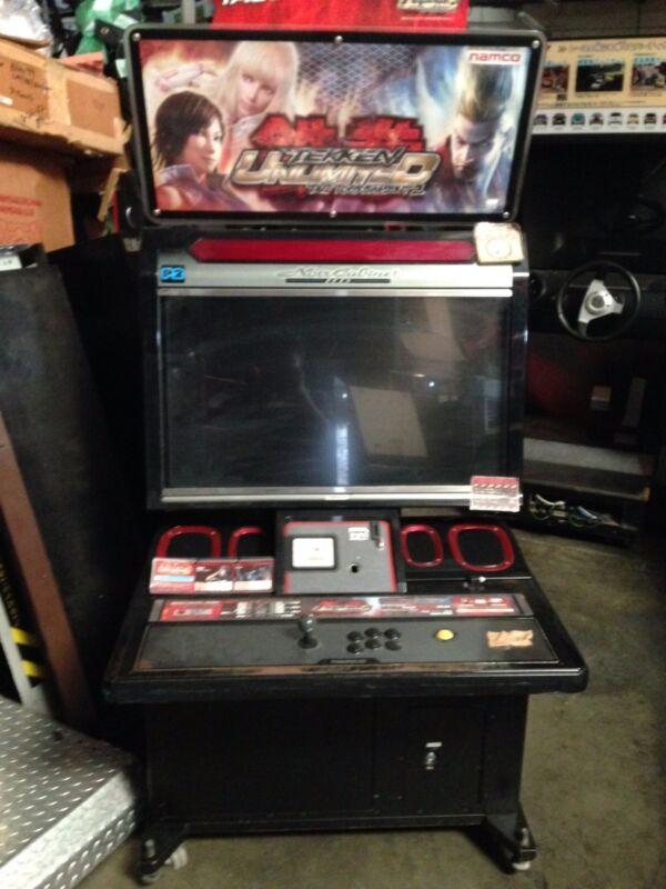 Noir namco arcade game cabinet no game