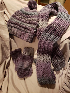 Complete set - Mittens, Scarves and Cap