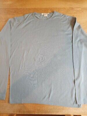 John Smedley Sea Island Cotton Long Sleeved T Shirt Sz M