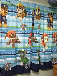 Paw patrol curtains and bed spread