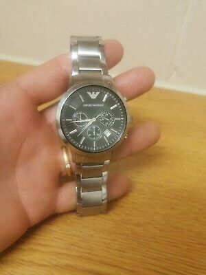 Used, EMPORIO ARMANI Men's Stainless Steel Chronograph Quartz Watch AR-2434 for sale  Shipping to Nigeria