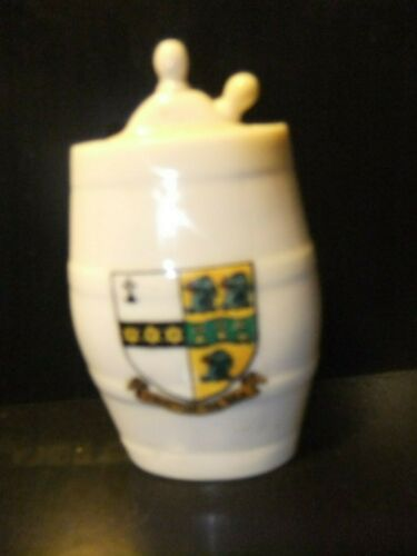 RARE Goss Crested Water Bottle Royal ,Frinton on the sea Battle of Waterloo