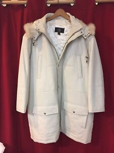 ***EXCLUSIVE 1 of1 WHITE ON WHITE REAL LEATHER AND REAL FUR ****