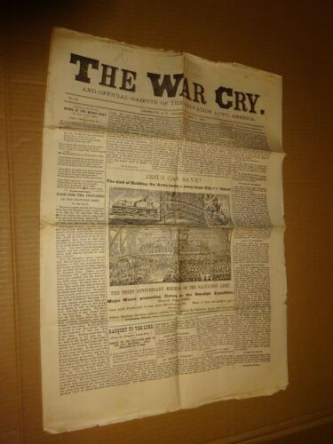 1883 Salvation Army War Cry Newspaper May 3