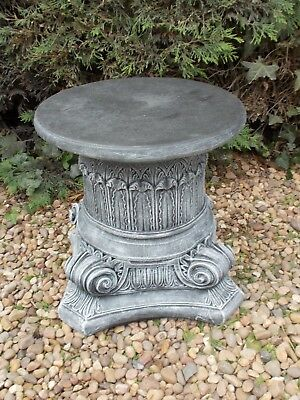 Ornate Plinth concrete garden ornament