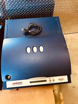 Cim Me2000 Metal Tag Embossing Machine Power On Tested Only 2012 Model Date