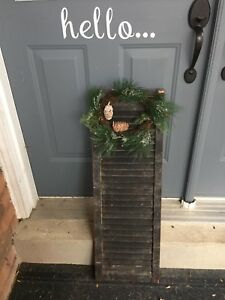 Farmhouse shutter with wreath