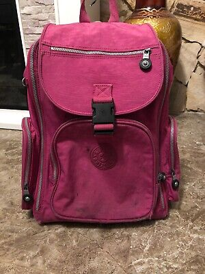 Kipling SANAA Wheeled Backpack Carry On Luggage Bag- Breezy Pink