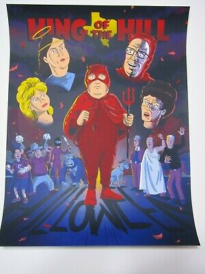 King of the Hill Halloween Print by Bill Galvan and JJ Harrison Mondo Artist](King Of The Hill Halloween)