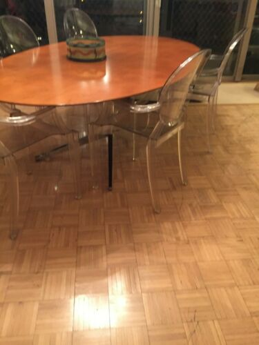 Starck for Kartell- GHOST CHAIRS- Clear Arm Chairs **set/6