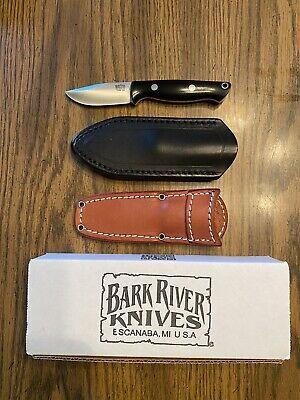 Bark River Knives Bravo Sentry CPM 154 Black Canvas Micarta