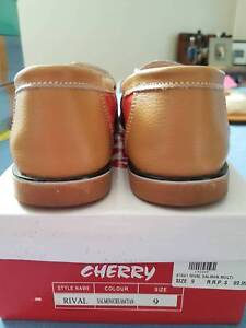 Cream and tan loafers; size 9 Bruce Belconnen Area Preview