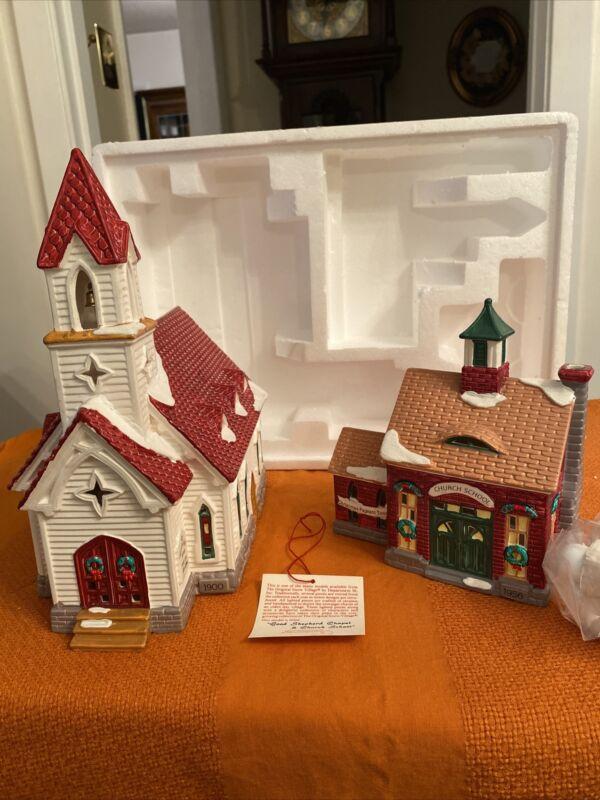 Department 56 Snow Village Series Good Shepard Chapel and Church School #54240