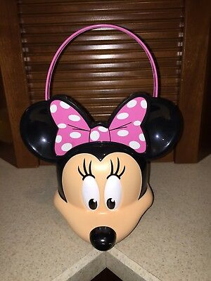 Disney Minnie Mouse Trick or Treat Halloween Candy Pail Bucket Easter Basket - Minnie Mouse Trick Or Treat Bucket