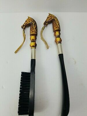 2 x 16 Inches; Brass Hook For Hanging; Made in West Germany; Classic; FREE SHIPPING Solid Wood; Shoe Horn and Suit or Shoe Brush; Approx