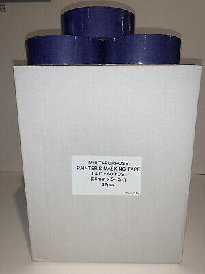 32 Rolls 1.5 Inch 1.41x60 Yards Multi-purpose Painters Masking Tape New