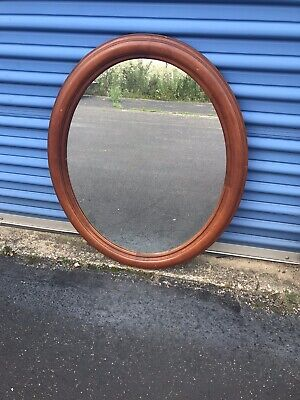 Willett Golden Beryl Maple Vintage Oval Wall Mirror - Maple Oval Mirror