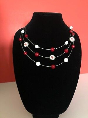 Oklahoma University Sooners - Cable Necklace - NCAA Licensed Product (Oklahoma University Merchandise)