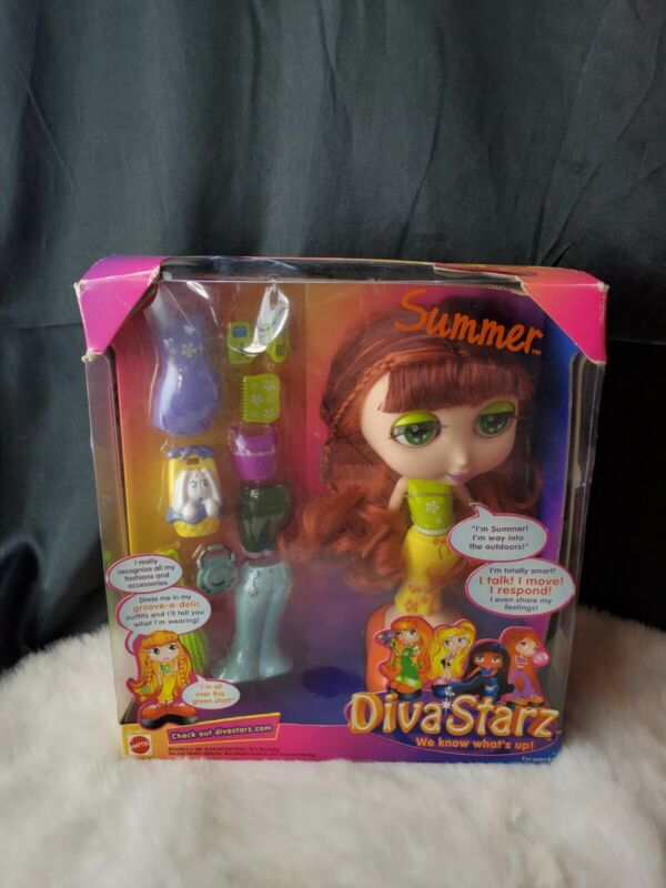 Vintage Mattel Diva Starz Summer  Interactive Talking Doll Full sized NIB