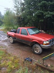1998 ford ranger and parts truck