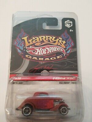 2009 HOT WHEELS LARRY'S GARAGE 3-WINDOW '34 FORD MINT IN PROTECTO PAK