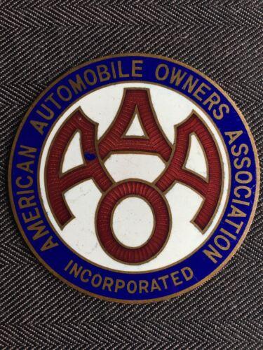 1910's-20's American Automobile Owners Cloisonné Emblem Badge Original RARE NOS