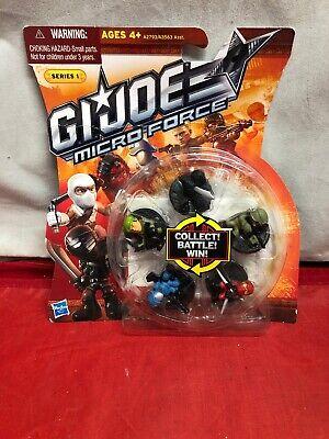 G I Joe Micro Force Series 1 Hasbro A2793/A3563 Snake Eyes Flint Cobra Commander