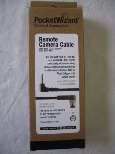 """Pocket Wizard 802-452 N10-ACC-D200 Nikon 10 Pin Camera Cable """"NEW"""", 802452"""