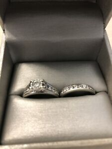Beautiful 1 Carat white gold bridal set - special order