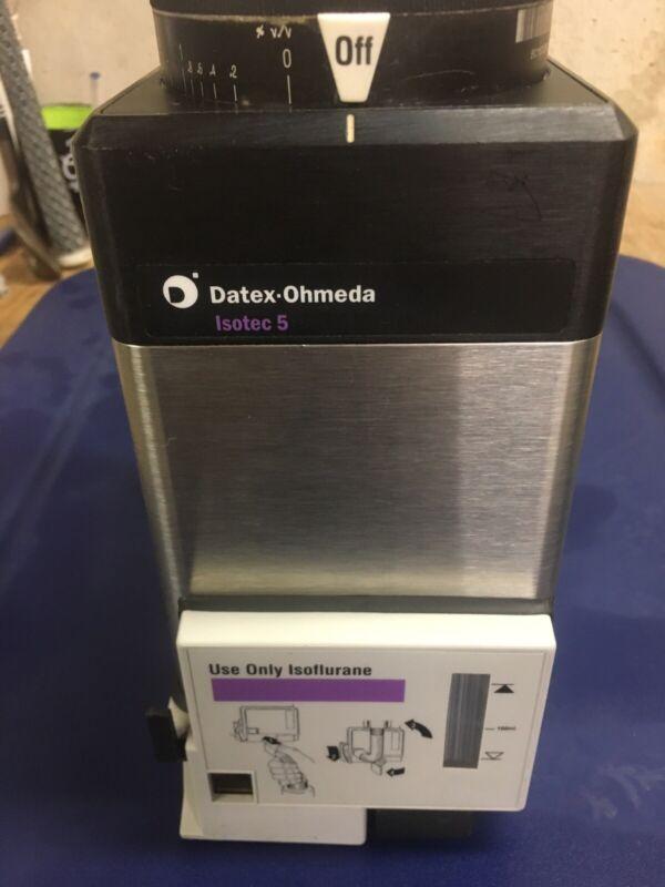 Datex Ohmeda TEC 5 Isoflurane Vaporizer Key Fill, Tested!