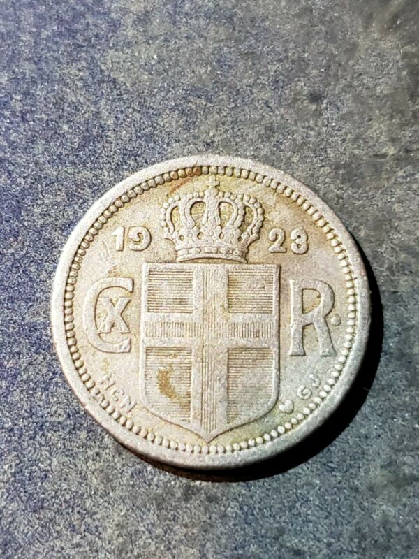1923 ICELAND 10 AURAR - Higher Quality Low Mintage Coin -