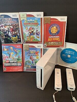 nintendo wii sports bundle super Mario lovers dream 5 Mario Games+Wii sports