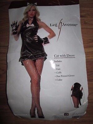 Womens BLACK CAT sexy Halloween Costume S Sm M Md Med Leg Avenue](Leg Avenue Cat Costume)