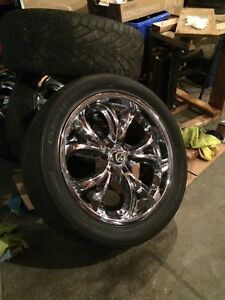 "4 x 22 "" Scorpion rims low profile tiresl"